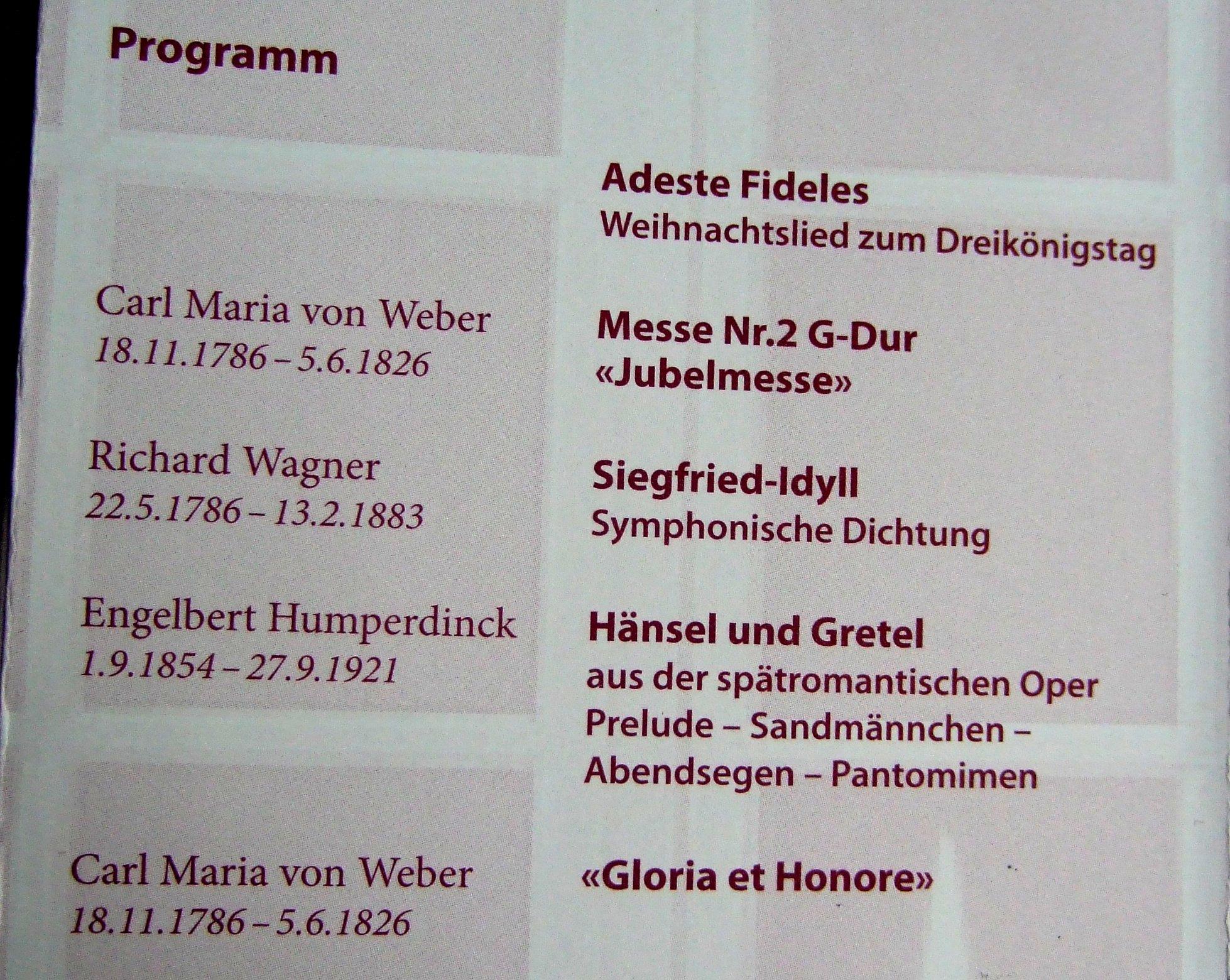 Das Konzertprogramm