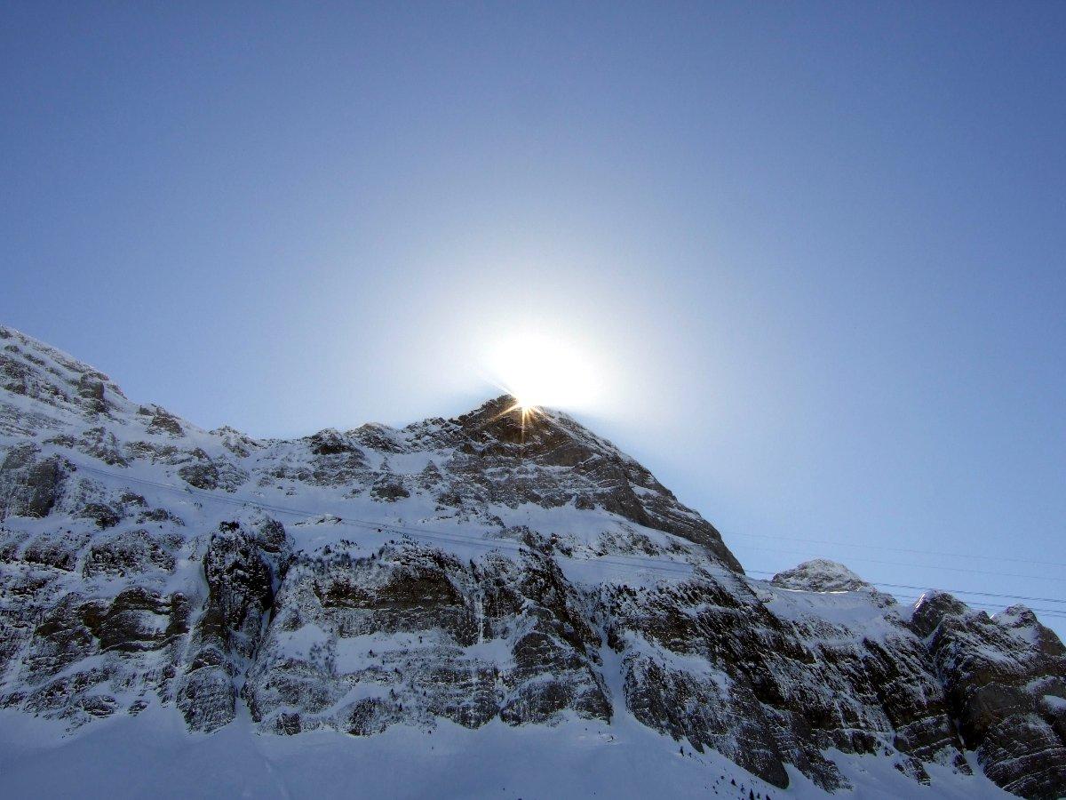 Am späten Vormittag vor der Bergfahrt.
