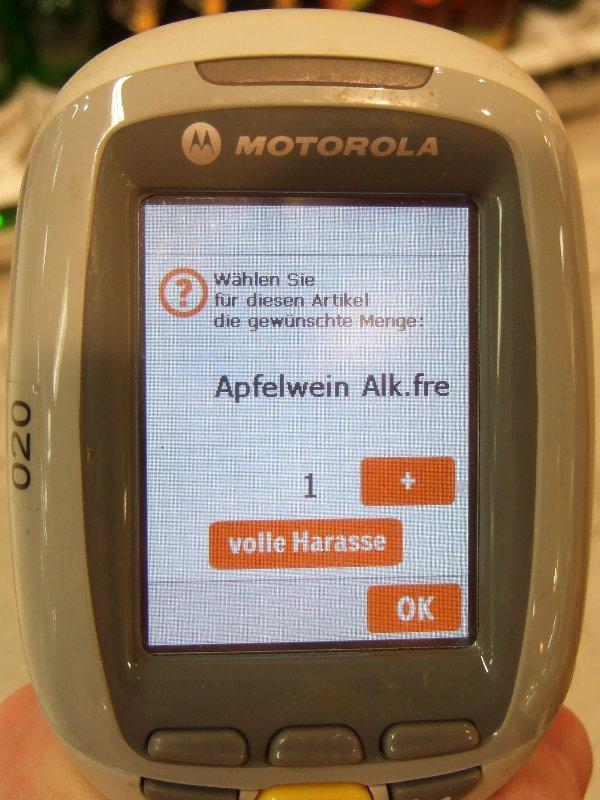Handscanner bei coop (passabene)