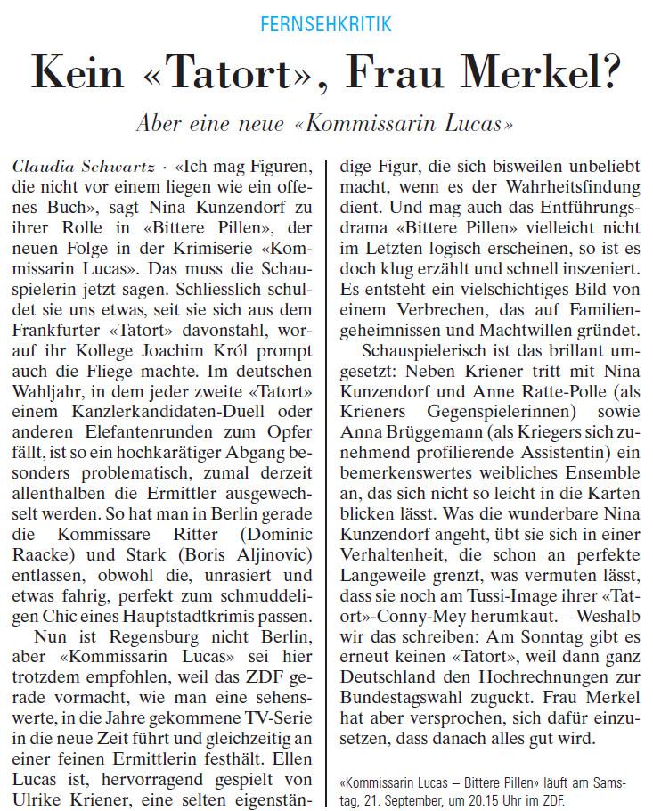 Nix Tatort am Sonntag.