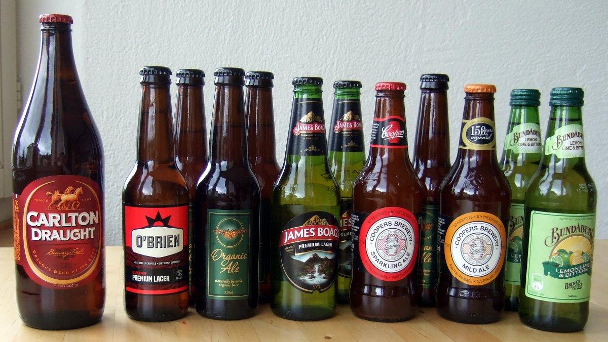 Eine unrepräsentative Auswahl von australischen Biersorten.