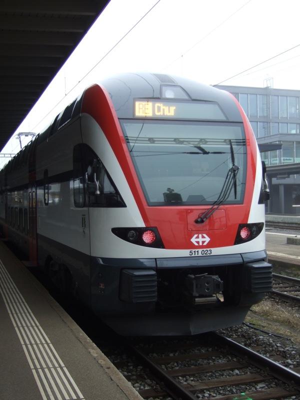 Der Bombardier-REX zwischen Wil und Chur.