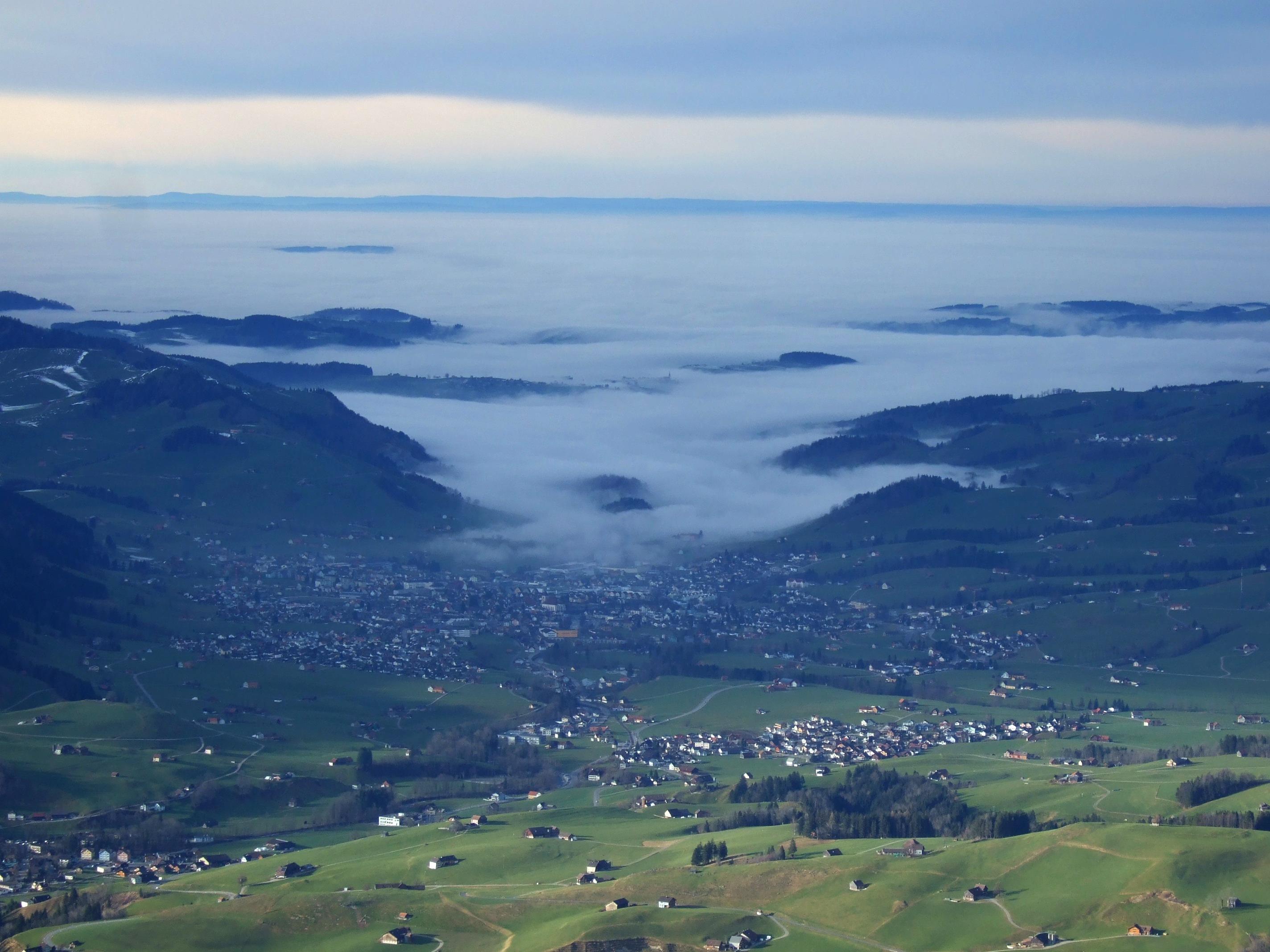 Hinter Appenzell fing wieder der Nebel an.