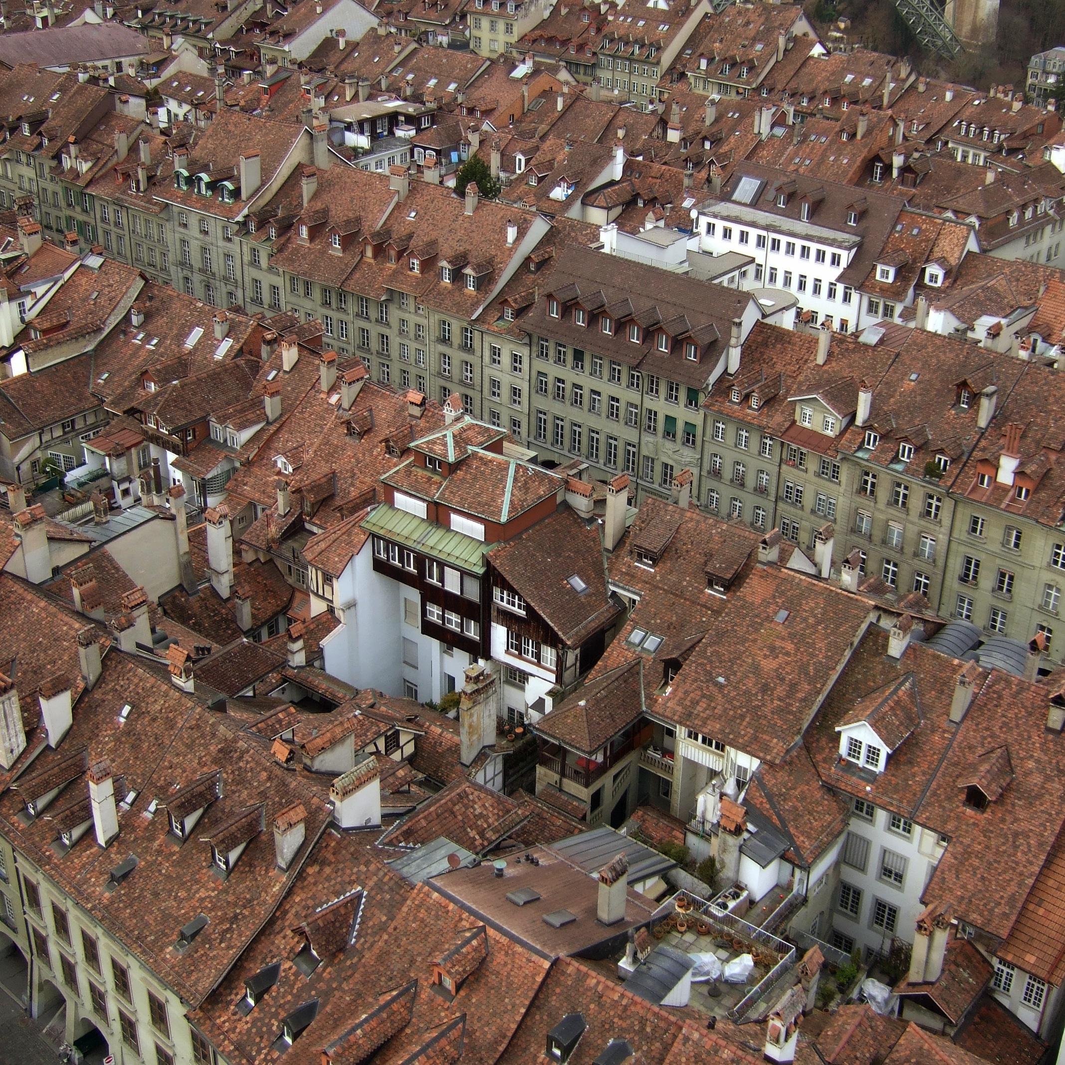 Blick vom Münster auf die Altstadt.