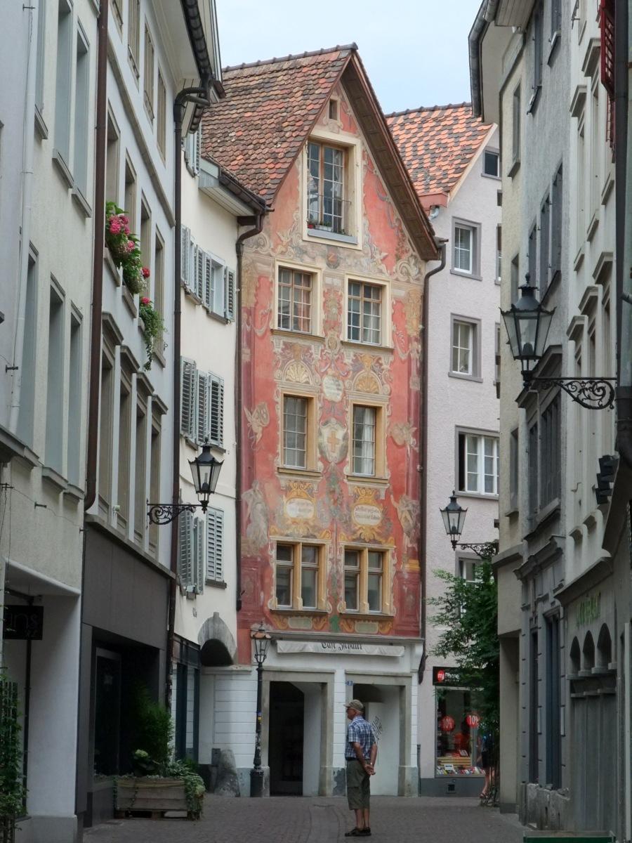 Chur, schöne Häuser.