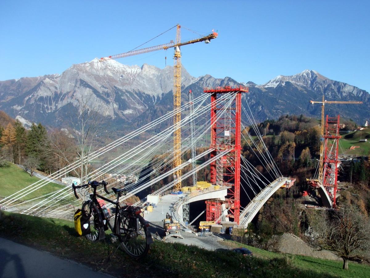 Taminabrücke zwischen Valens und Pfäfers (im Bau)