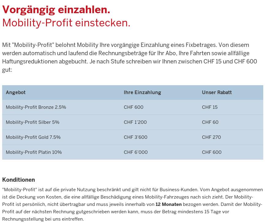 "Mobility-""Profit""-Angebot"