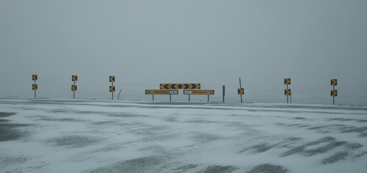 Abbiegen nach rechts. Keine besonderen Wetterverhältnisse hier.