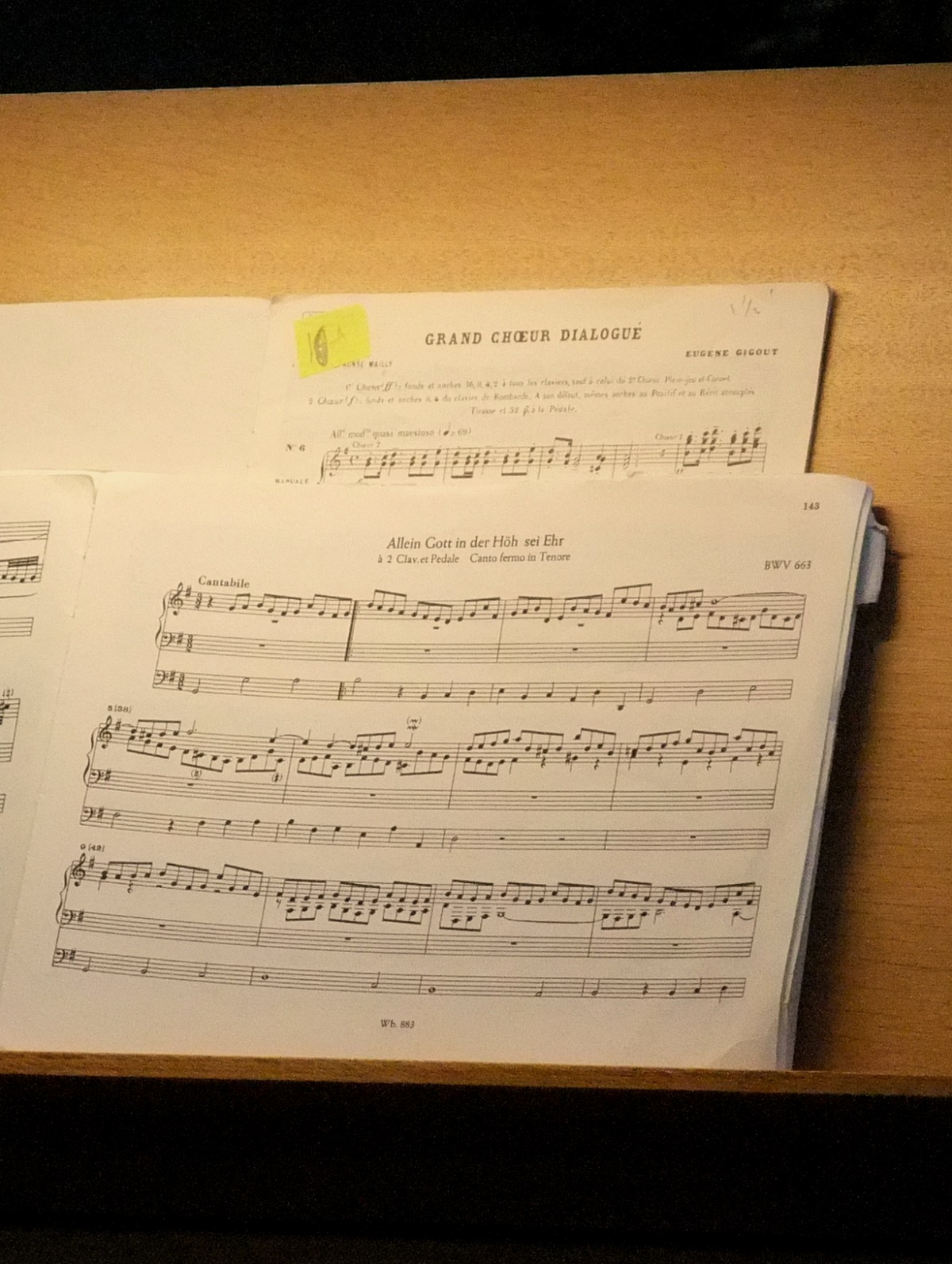 Gespielt wurde Bach.