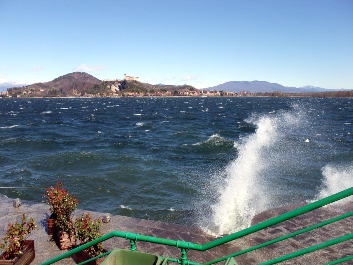 Der Wind ab Arona, der mich zum Abbruch der Tour bewegte.
