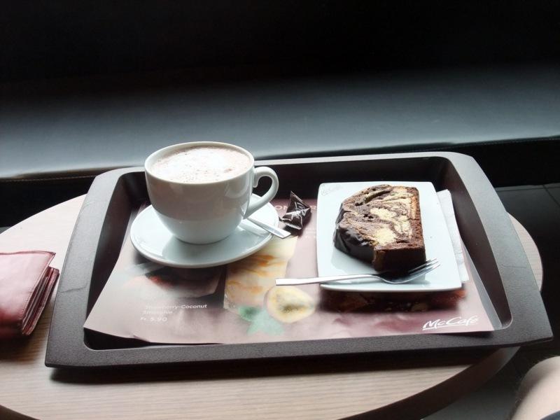 Klarer Fall von Kaffee-Kuchen-Kalorienüberkompensation. Aber gut.