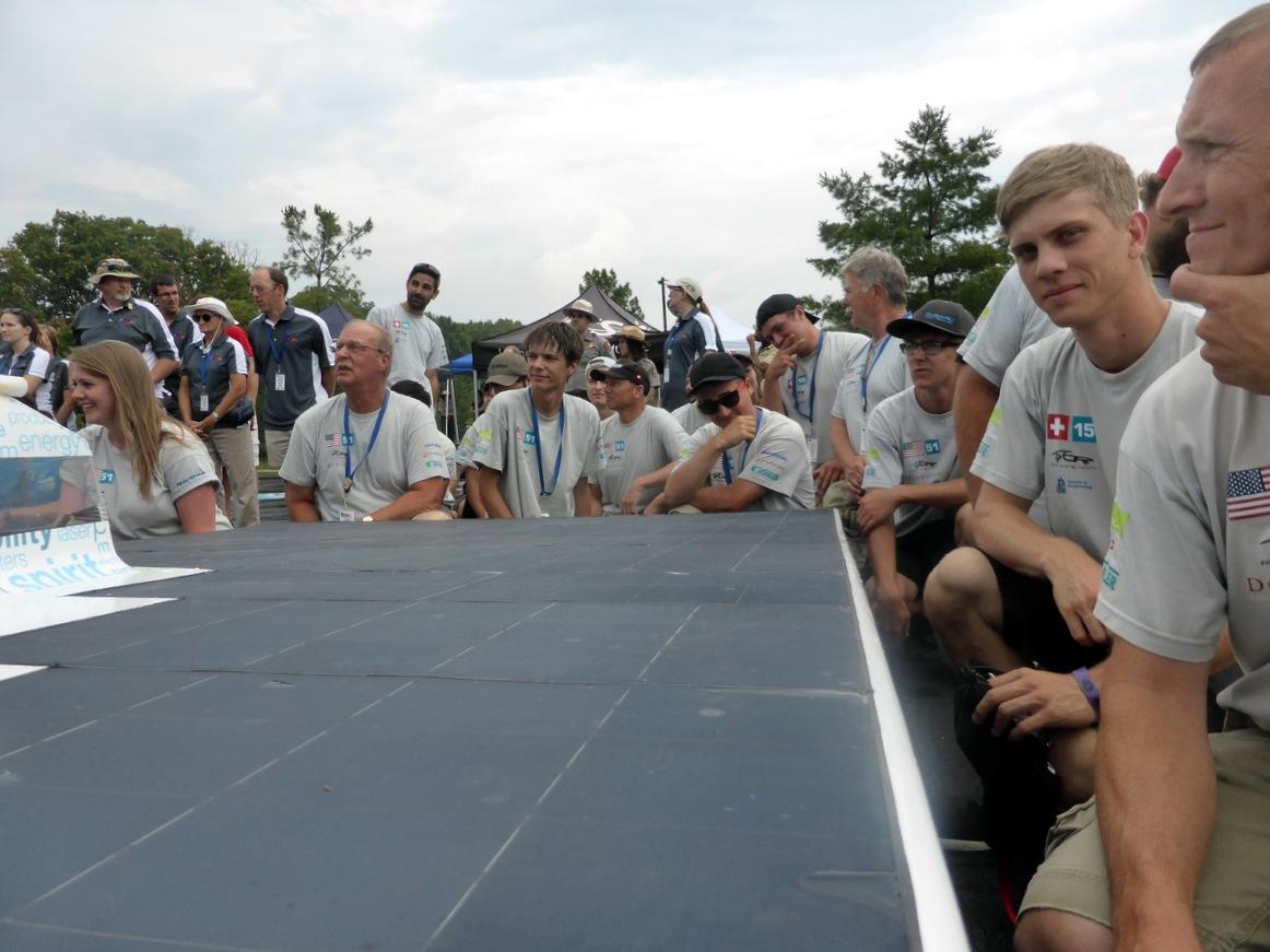 Teamteilfoto während dem Alle-Teams-vom-Dach-Foto