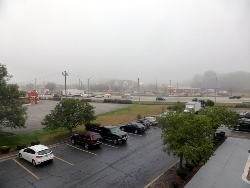 Morgens um 06:30 am Motel im Osten von Cleveland.