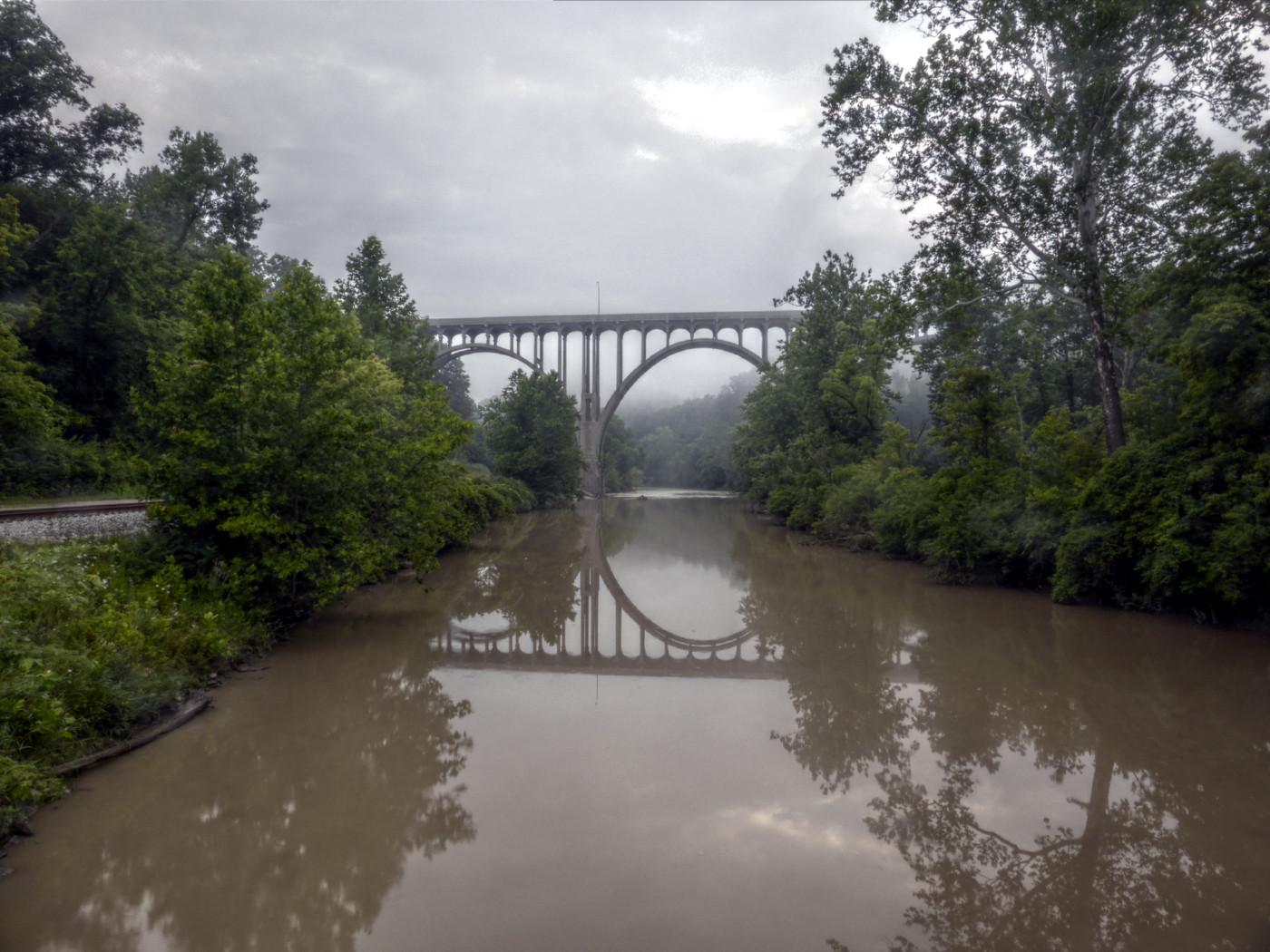Brücke unter mir, Brücke vor mir, unten ein Sihl-ähnlicher Fluss