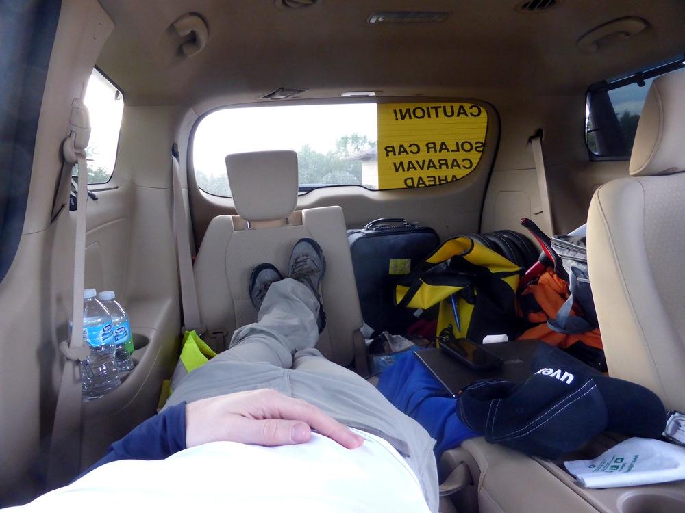 Sorum kann man auch im Van sitzen. Fast wie auf Island.