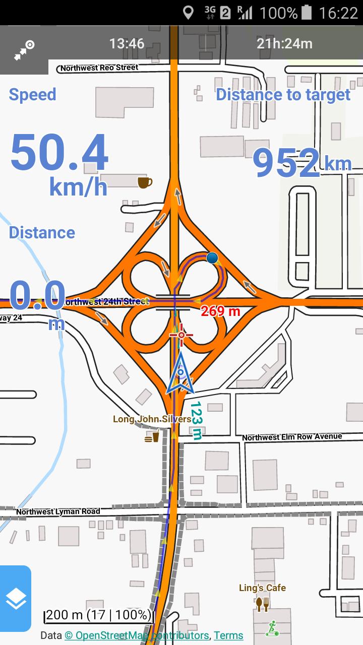 Lustige Kreuzungen gibt's hier. Wie im Lehrbuch für Autobahnbauer.