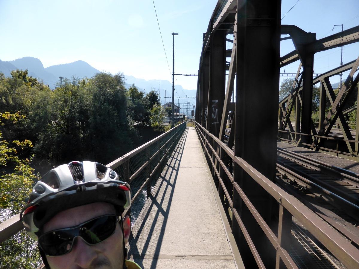 Ziemlich schmale Brücke bei Landquart.