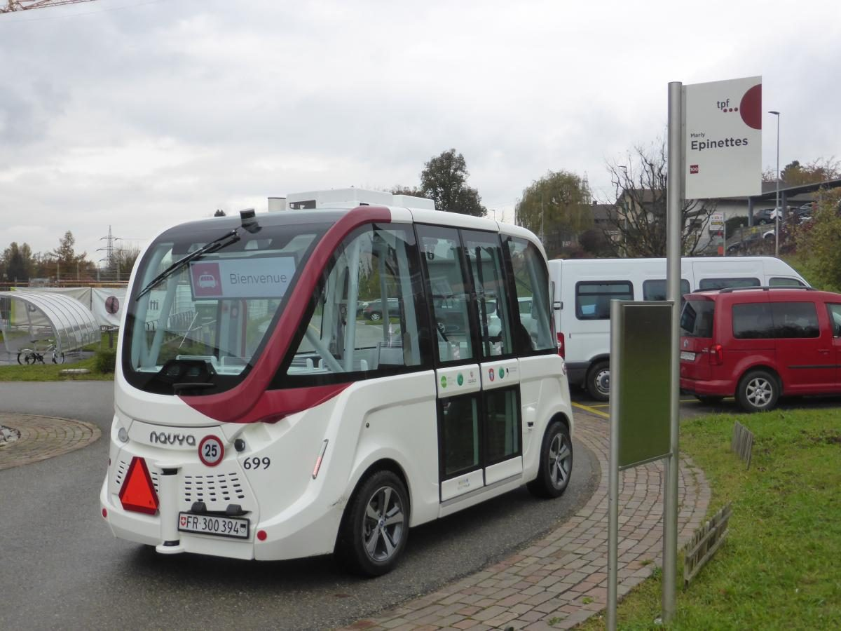 Autonomes Shuttle in Fribourg