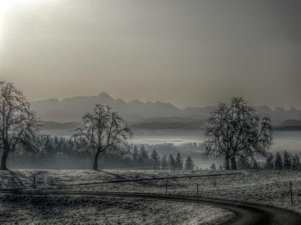 Aussicht bei Secki, oberhalb von Wuppenau